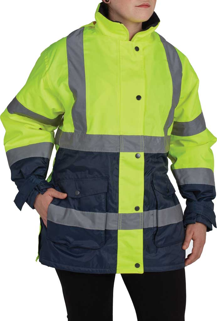 Women's Utility Pro High Visibility Parka, Lime/Navy, large, image 1