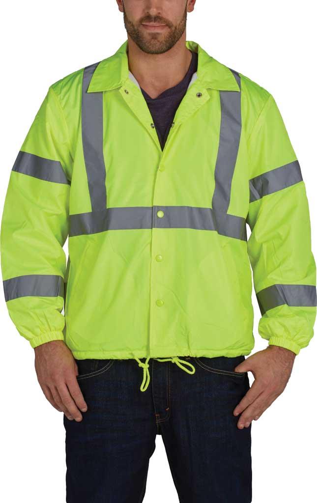 Men's Utility Pro High Visibility Windbreaker Jacket, Yellow, large, image 1