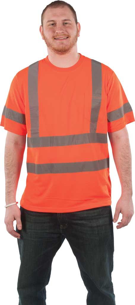 Men's Utility Pro High Visibility Short Sleeve Jersey Tee, Orange, large, image 1