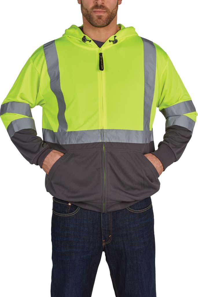 Men's Utility Pro High Visibility Ultra Light Full Zip Jacket Tall, Yellow, large, image 1