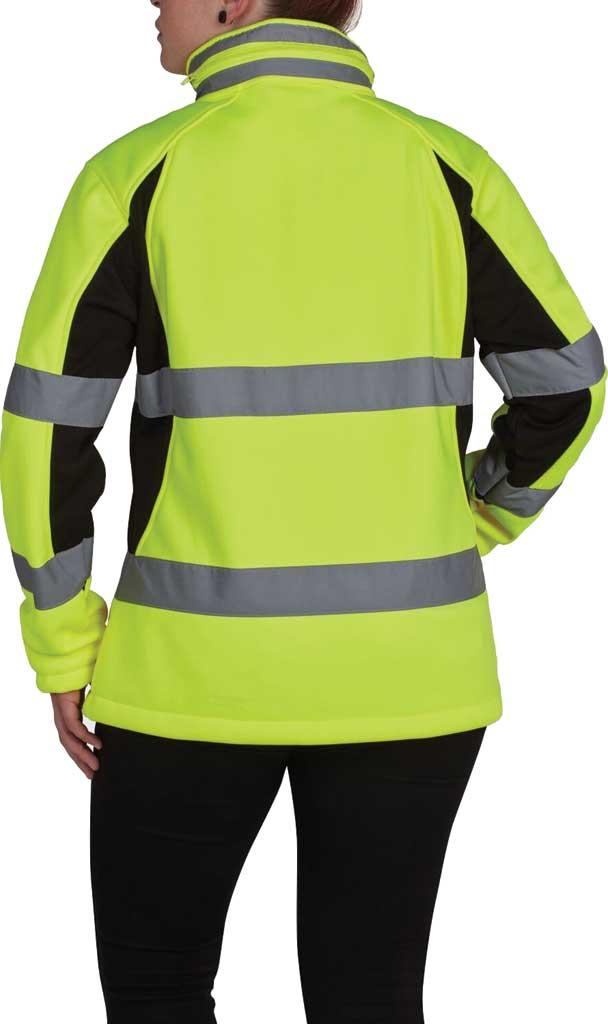 Women's Utility Pro High Visibility Full Zip Softshell Jacket, Black/Yellow, large, image 2