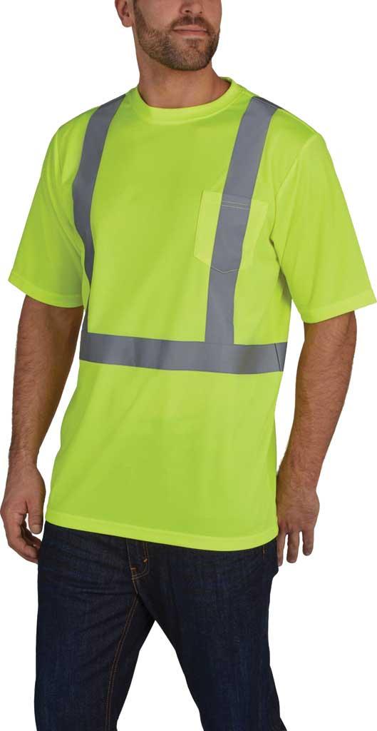 Men's Utility Pro High Visibility Short Sleeve Tek Tee, Lime, large, image 1