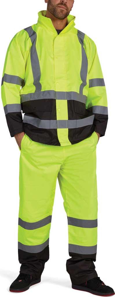 Men's Utility Pro High Visibility Basic Waterproof Rain Jacket Tall, Yellow, large, image 1