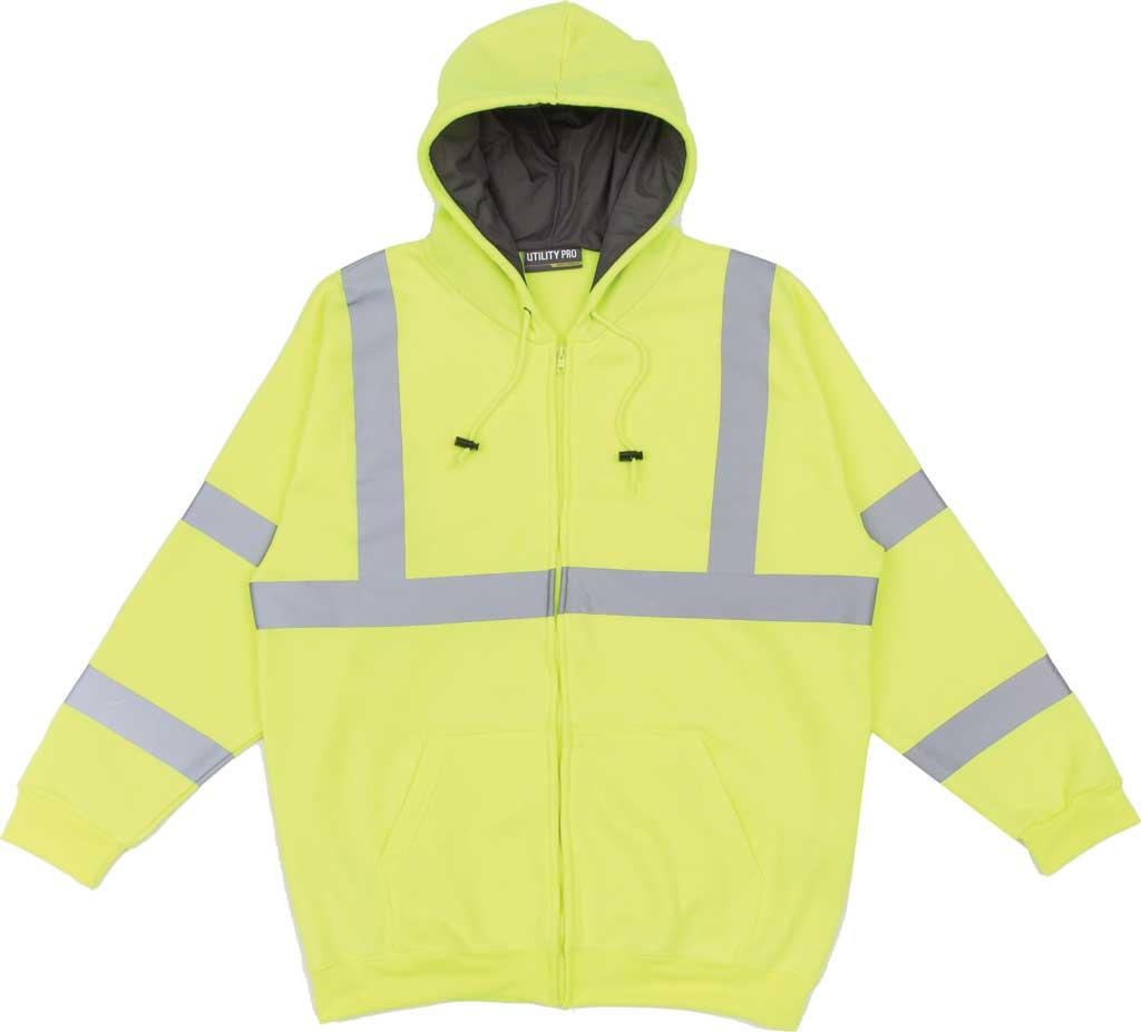 Men's Utility Pro High Visibility Softshell Sweatshirt, Yellow, large, image 1