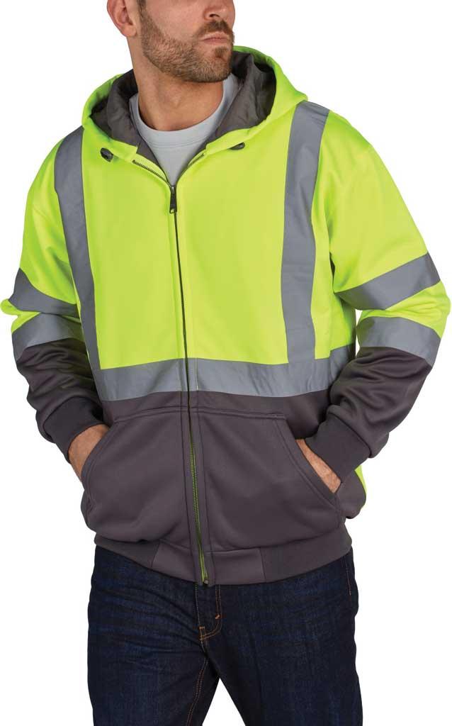 Men's Utility Pro High Visibility Warm Up Lining Bomber Jacket, Yellow, large, image 1