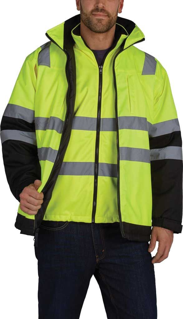 Men's Utility Pro High Visibility Arctic 3-in-1 Tall Jacket, Black/Yellow, large, image 2