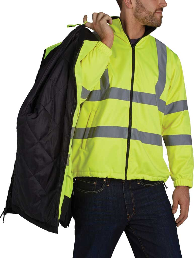 Men's Utility Pro High Visibility Arctic 3-in-1 Tall Jacket, Black/Yellow, large, image 3