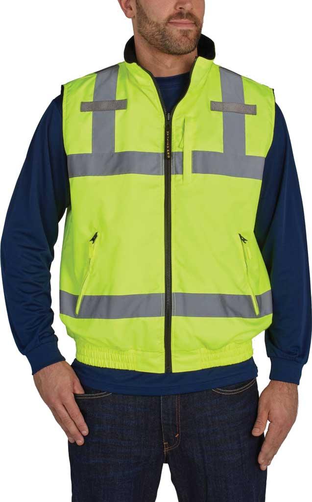 Men's Utility Pro High Visibility Reversible Vest, Yellow, large, image 1