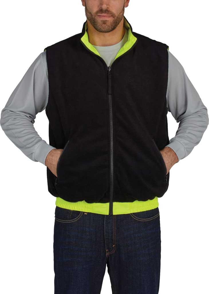 Men's Utility Pro High Visibility Reversible Vest, Yellow, large, image 2