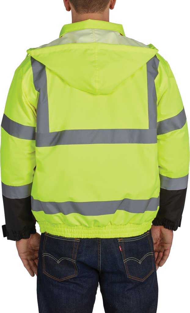 Men's Utility Pro High Visibility Quilt Lined Bomber Tall Jacket, Yellow, large, image 2