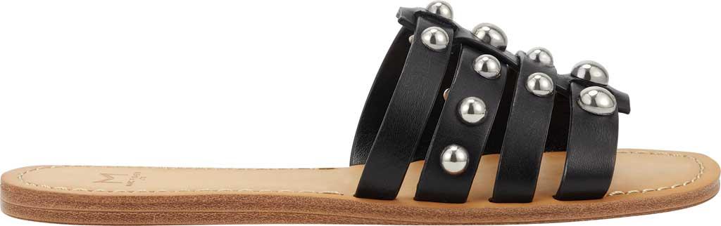 Women's Marc Fisher Pava Studded Slide Sandal, Black Fine Stetson Leather, large, image 2