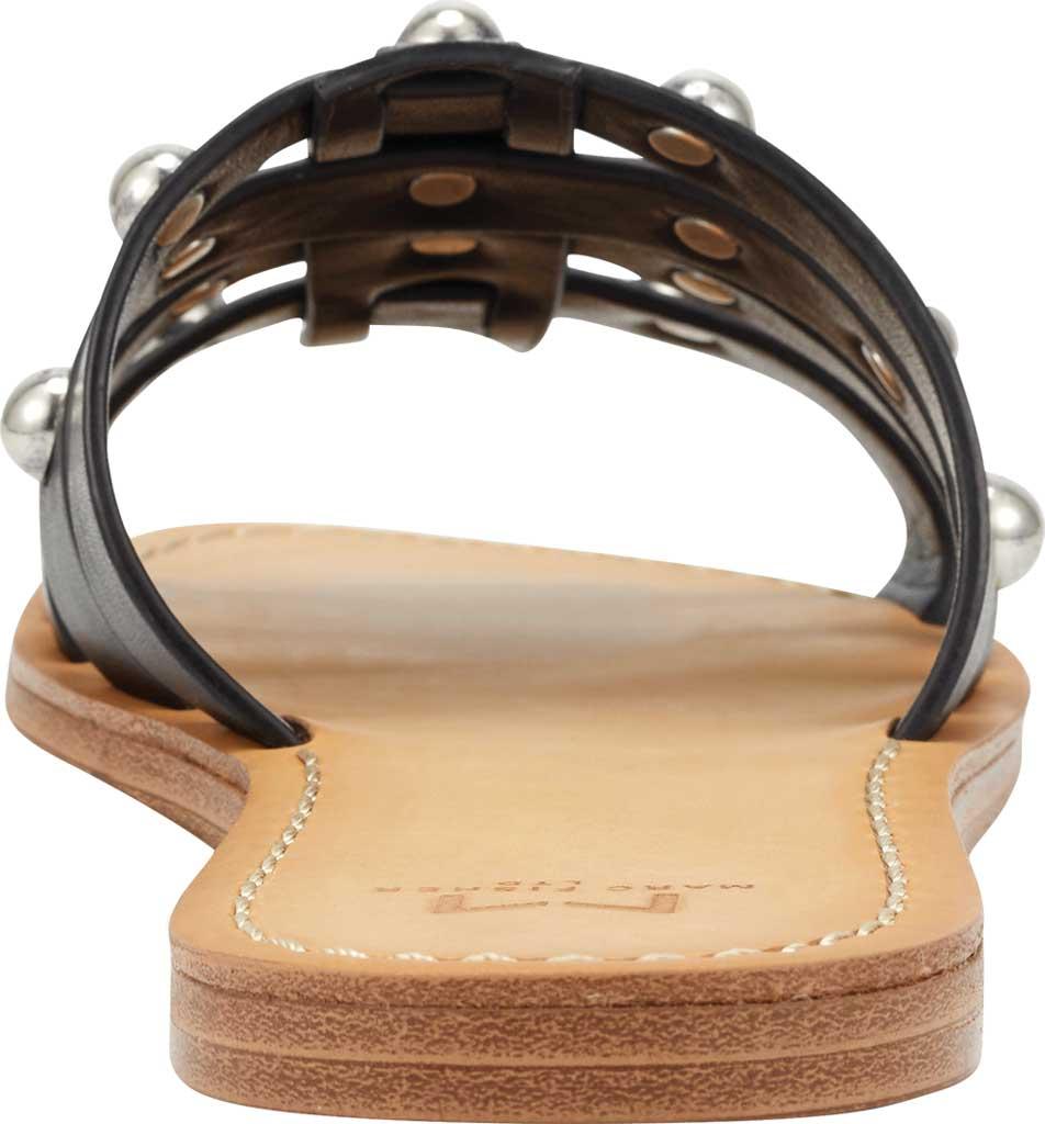 Women's Marc Fisher Pava Studded Slide Sandal, Black Fine Stetson Leather, large, image 3
