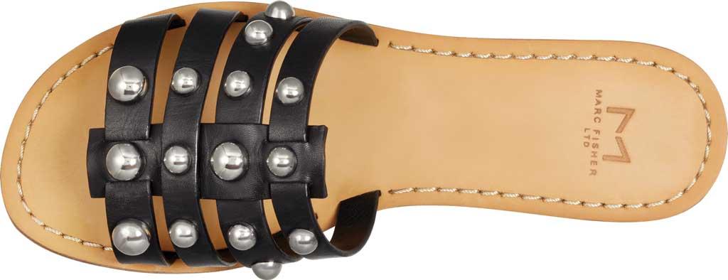 Women's Marc Fisher Pava Studded Slide Sandal, Black Fine Stetson Leather, large, image 4