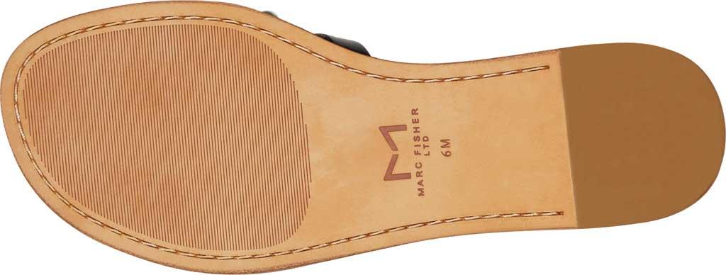 Women's Marc Fisher Pava Studded Slide Sandal, Black Fine Stetson Leather, large, image 5