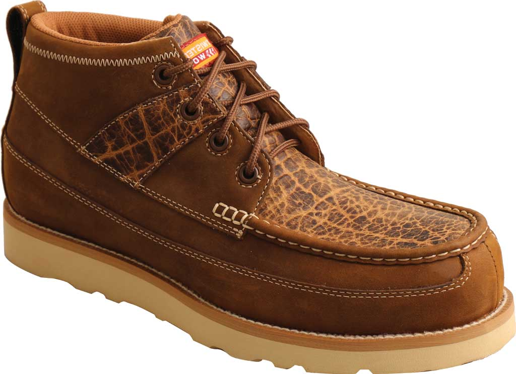 """Men's Twisted X MCAN002 4"""" Work Wedge Sole Composite Toe Boot, Distressed Saddle/Cognac Full Grain Leather, large, image 1"""