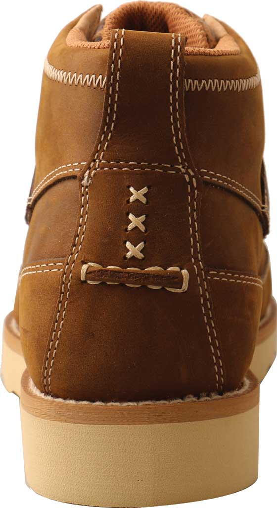 """Men's Twisted X MCAN002 4"""" Work Wedge Sole Composite Toe Boot, Distressed Saddle/Cognac Full Grain Leather, large, image 4"""