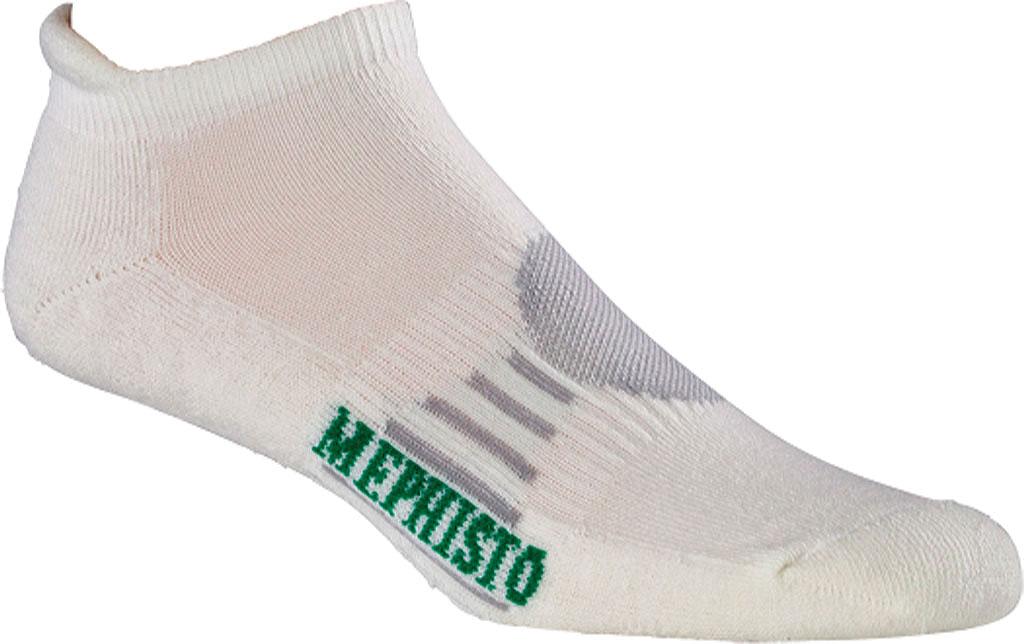 Men's Mephisto Naples No-Show Sock, White, large, image 1