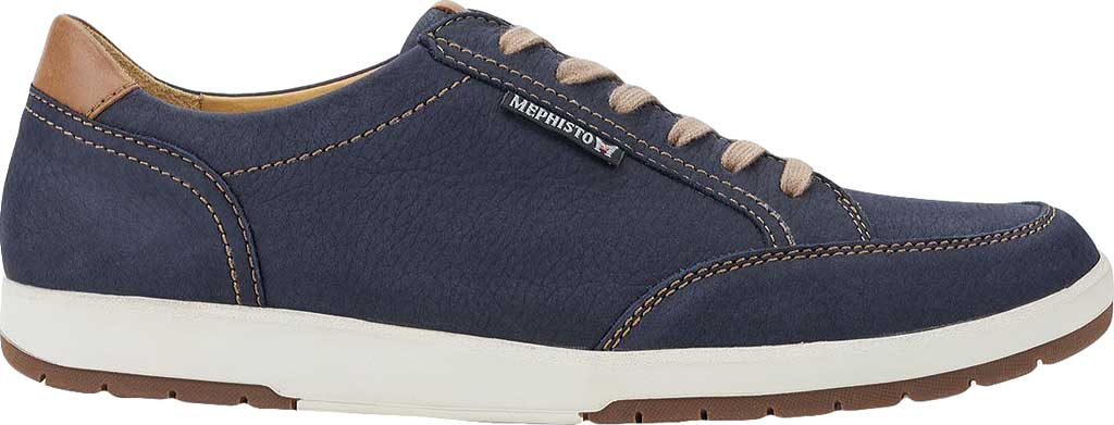 Men's Mephisto Ludo Sneaker, Navy Sportbuck/Hazelnut Mano, large, image 2