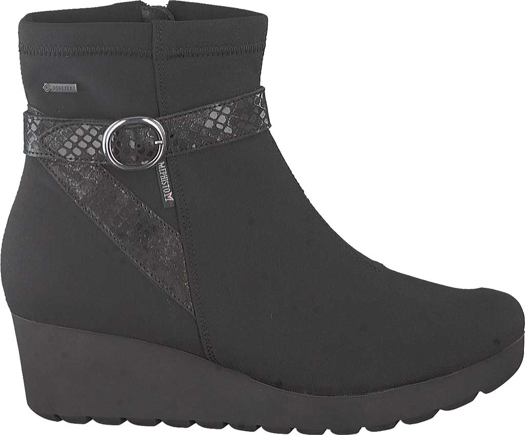 Women's Mephisto Tyba GT Wedge Boot, Black Lycra Leather, large, image 2
