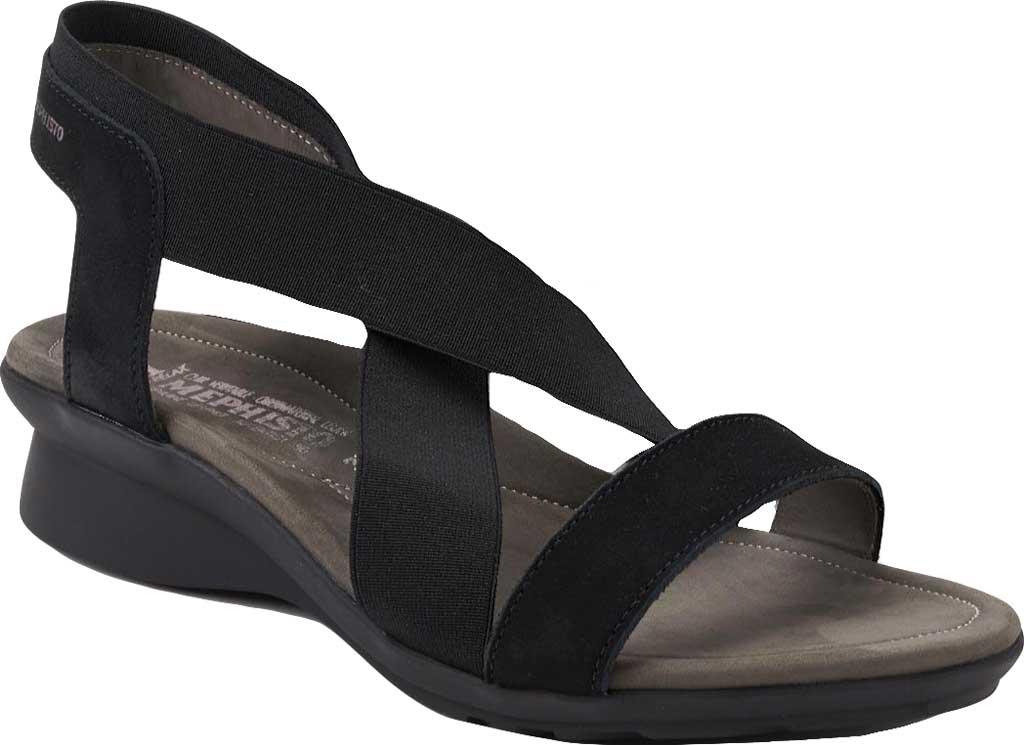 Women's Mephisto Pastora Sandal, Black Bucksoft Leather, large, image 1