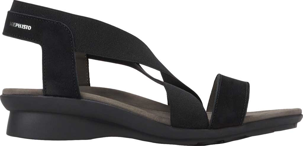 Women's Mephisto Pastora Sandal, Black Bucksoft Leather, large, image 2