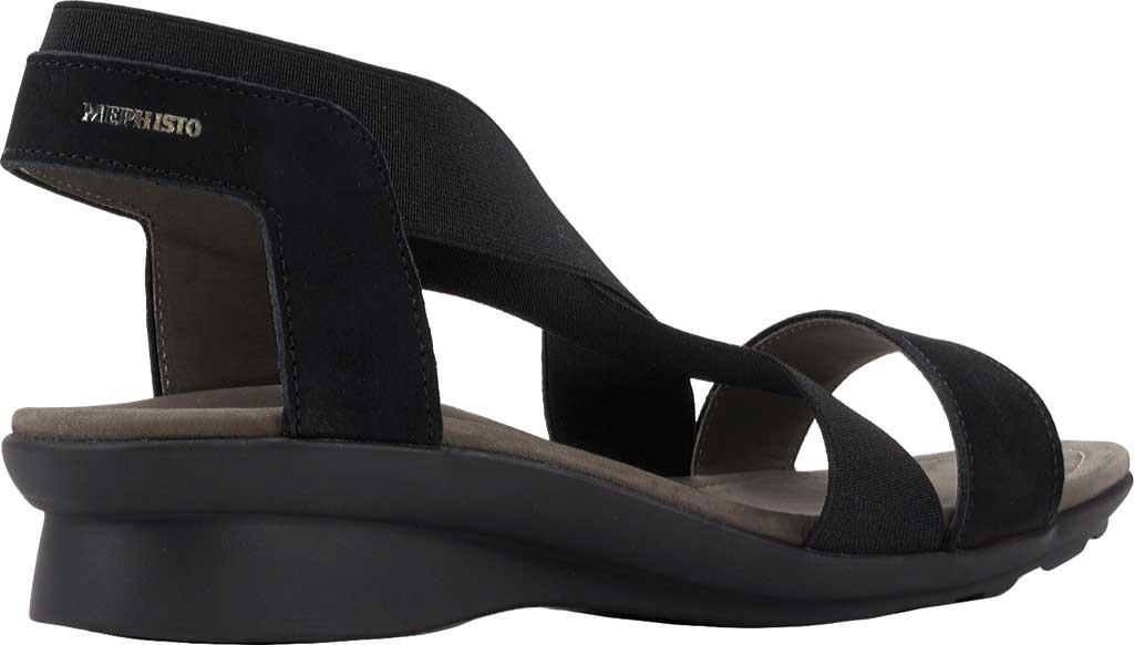 Women's Mephisto Pastora Sandal, Black Bucksoft Leather, large, image 3