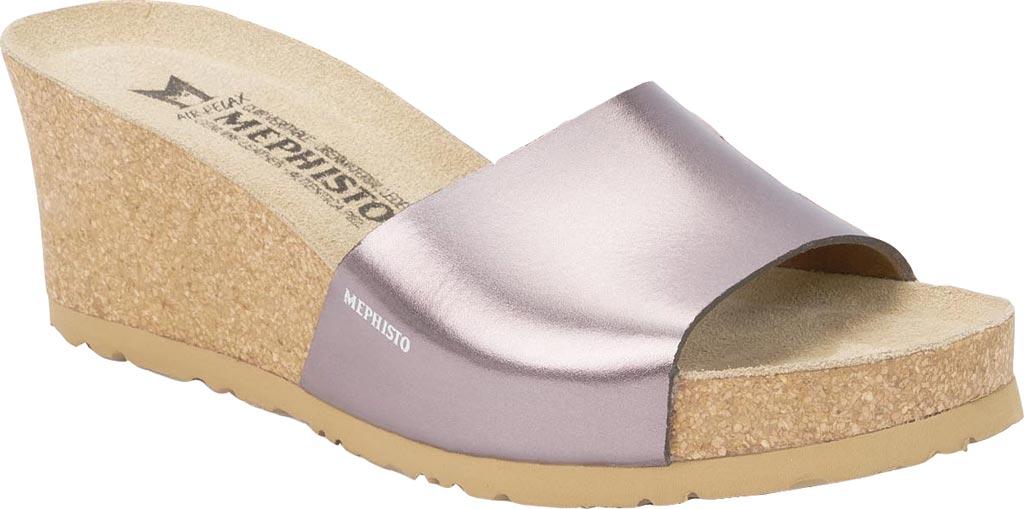 Women's Mephisto Lise Wedge Slide Sandal, Old Pink Star Leather, large, image 1
