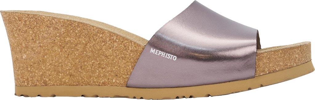 Women's Mephisto Lise Wedge Slide Sandal, Old Pink Star Leather, large, image 2