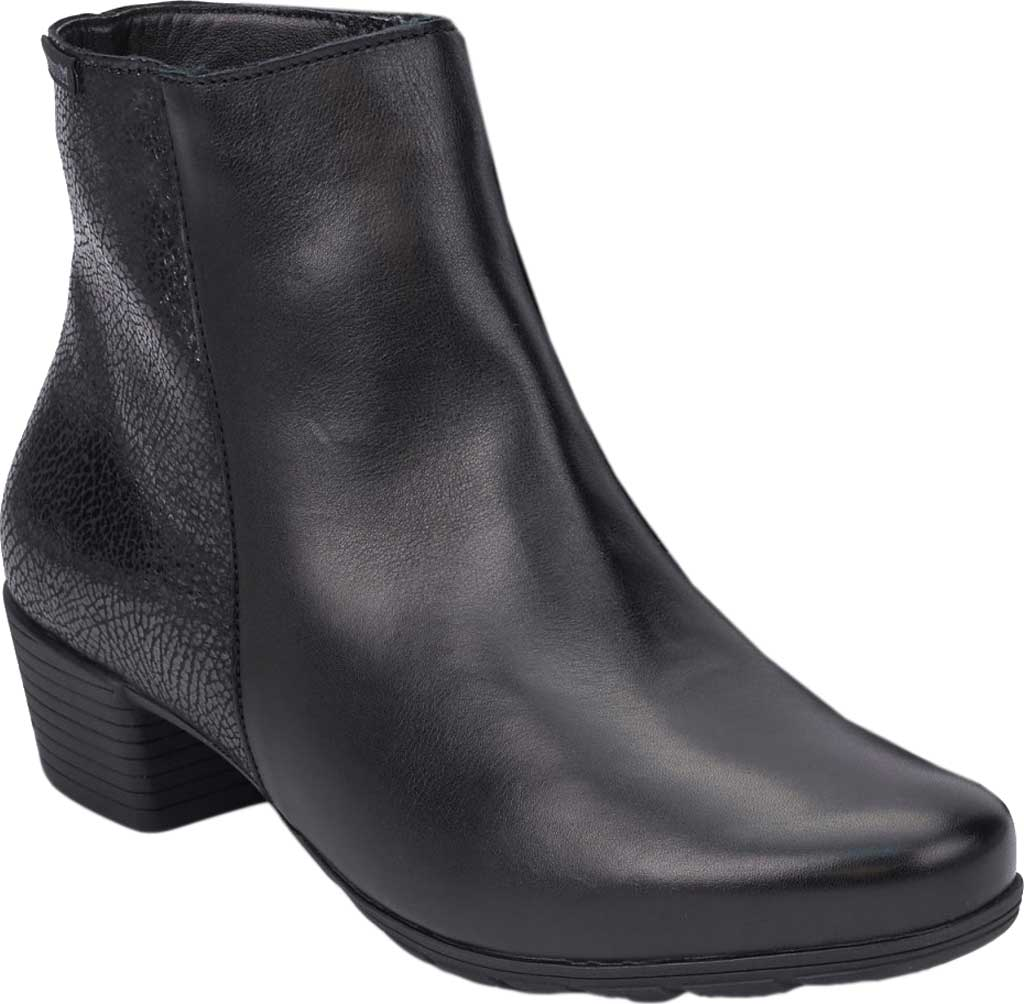 Women's Mephisto Ilsa Spark Ankle Boot, Black/Black Silk Smooth Leather, large, image 1