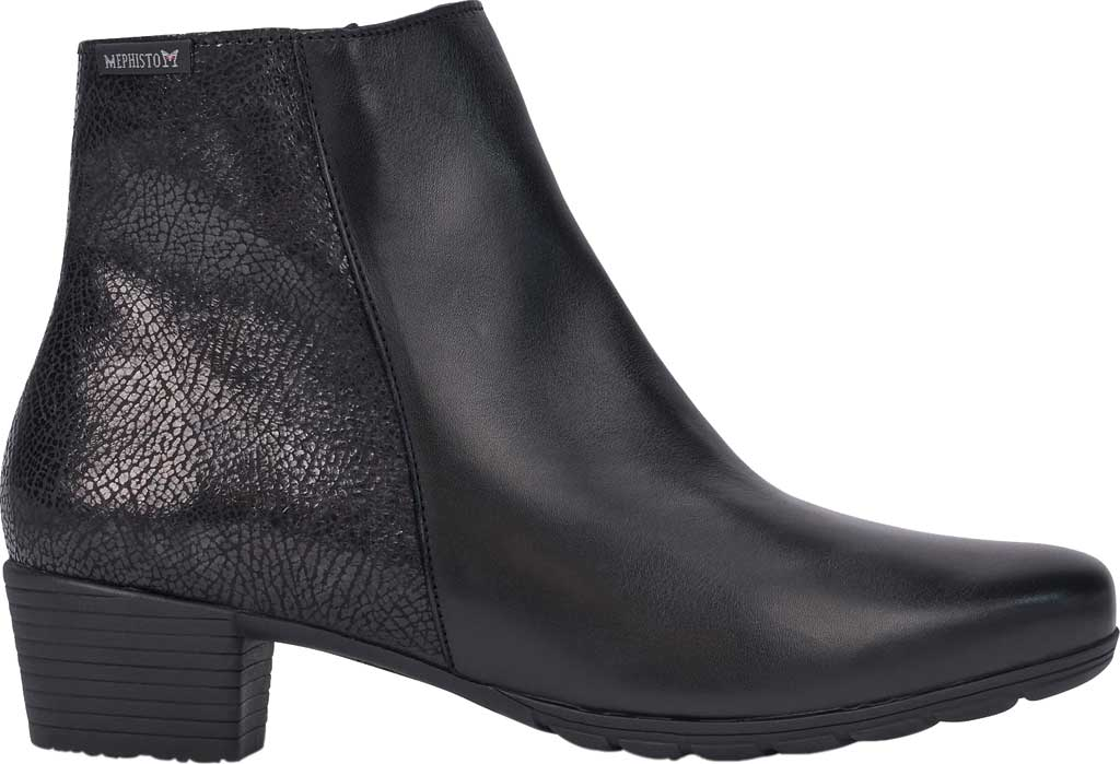 Women's Mephisto Ilsa Spark Ankle Boot, Black/Black Silk Smooth Leather, large, image 2
