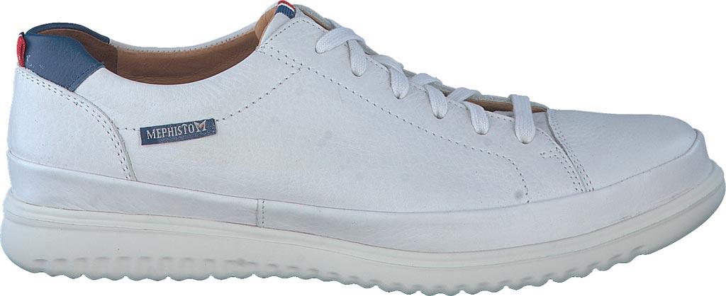 Men's Mephisto Thomas Sneaker, White/Denim Oregon Smooth Leather, large, image 2