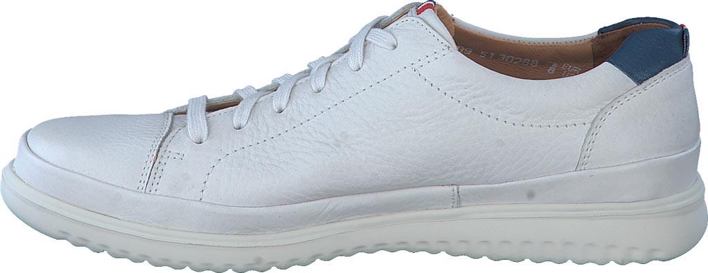 Men's Mephisto Thomas Sneaker, White/Denim Oregon Smooth Leather, large, image 3