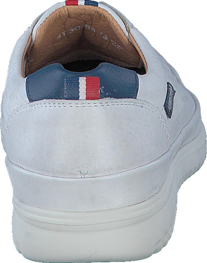 Men's Mephisto Thomas Sneaker, White/Denim Oregon Smooth Leather, large, image 4
