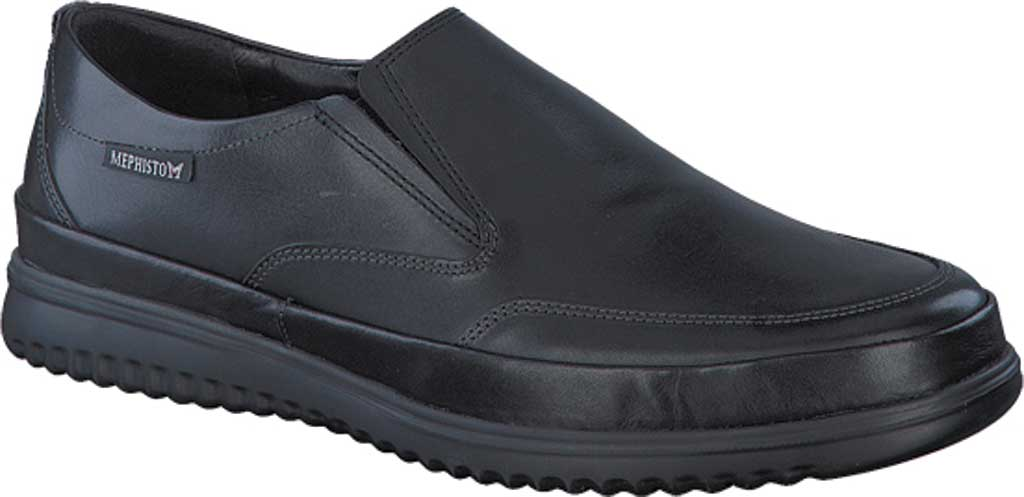 Men's Mephisto Twain Loafer, Black Randy Smooth Leather, large, image 1