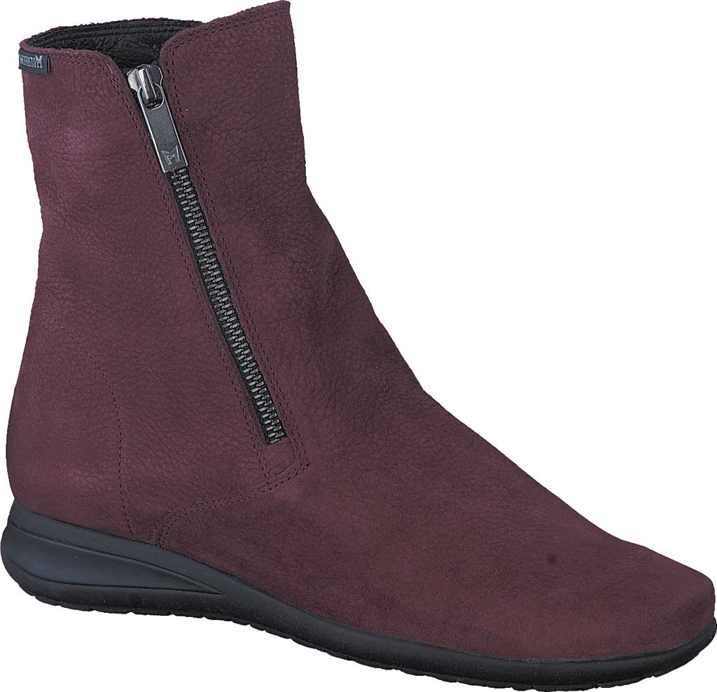 Women's Mephisto Nessia Ankle Boot, Wine Bucklux Smooth Suede, large, image 1
