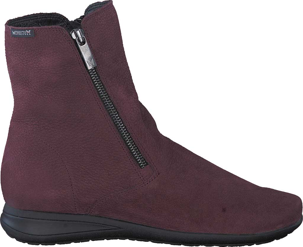 Women's Mephisto Nessia Ankle Boot, Wine Bucklux Smooth Suede, large, image 2