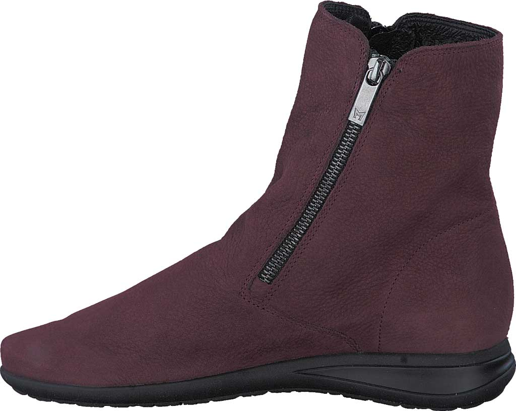 Women's Mephisto Nessia Ankle Boot, Wine Bucklux Smooth Suede, large, image 3