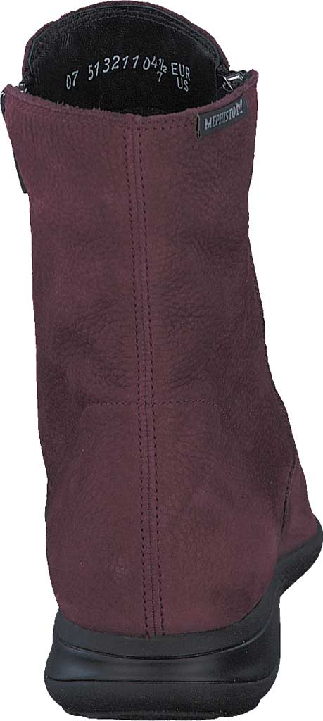 Women's Mephisto Nessia Ankle Boot, Wine Bucklux Smooth Suede, large, image 4