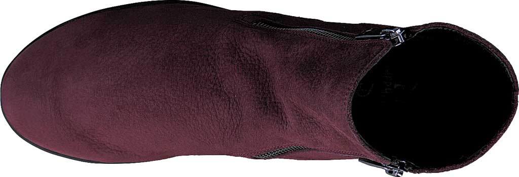 Women's Mephisto Nessia Ankle Boot, Wine Bucklux Smooth Suede, large, image 5