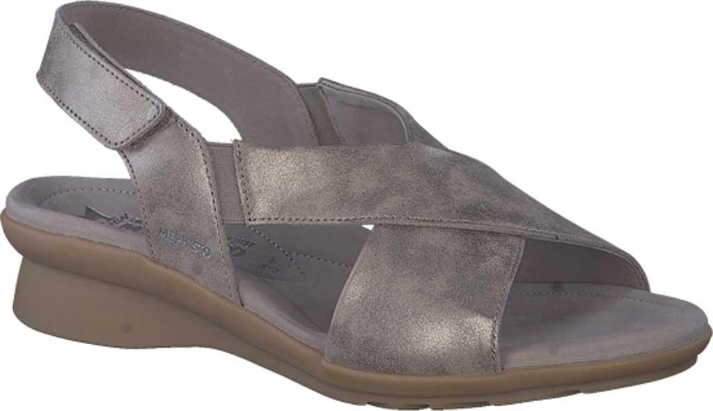 Women's Mephisto Phara Slingback Sandal, Dark Taupe Monaco Smooth Leather, large, image 1