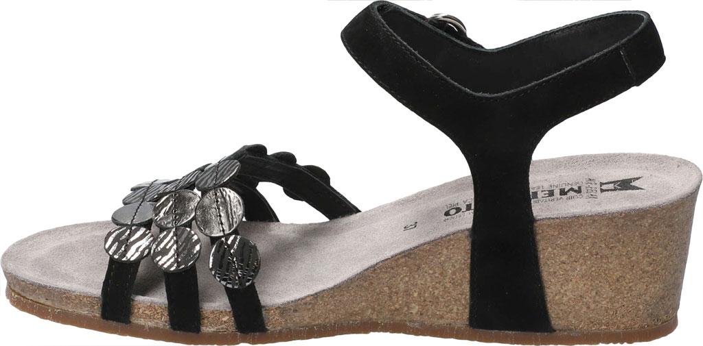 Women's Mephisto Matilde Wedge Sandal, Black Velc Leather, large, image 3