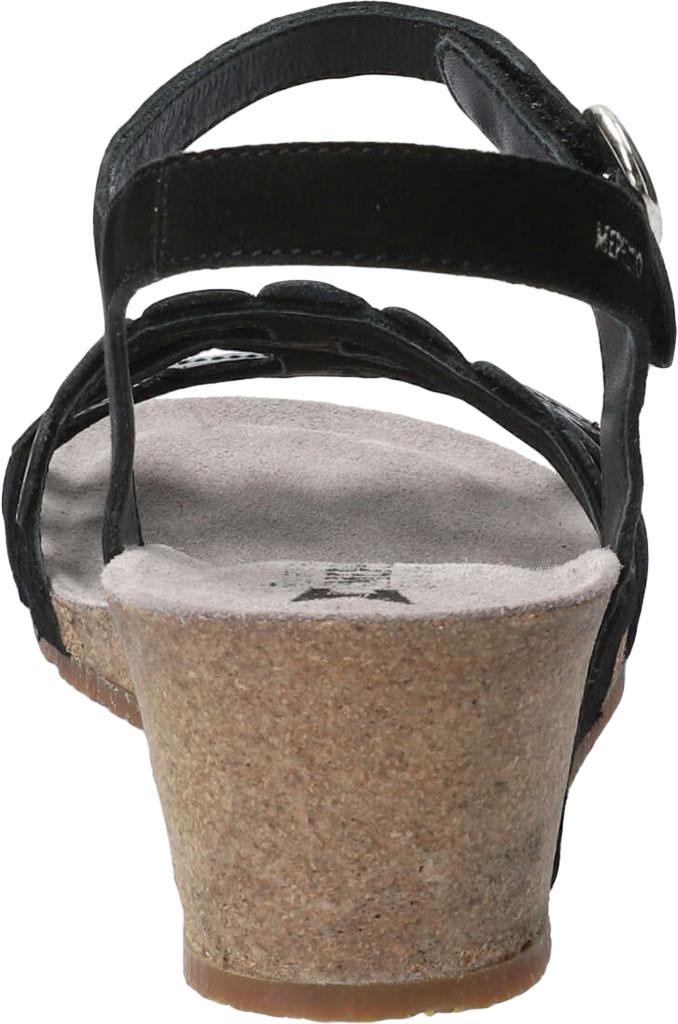 Women's Mephisto Matilde Wedge Sandal, Black Velc Leather, large, image 4