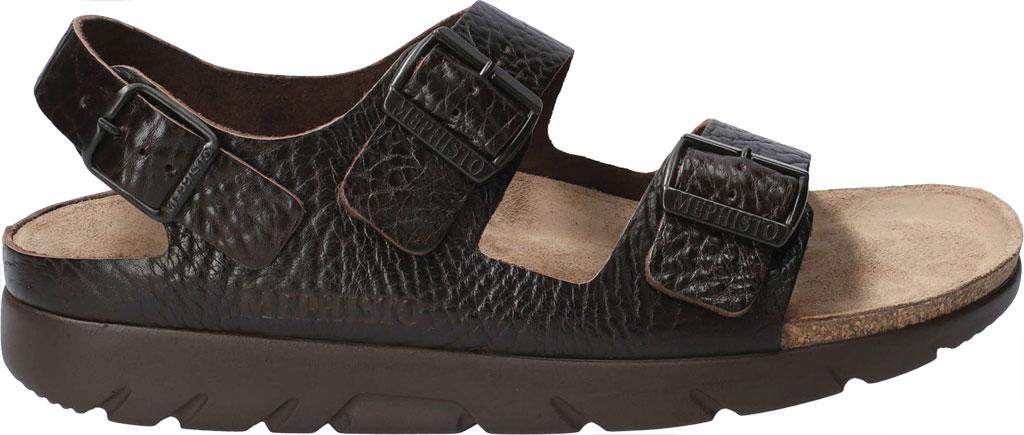 Men's Mephisto Zeus Leather Sandal, Dark Brown Buffalo Leather, large, image 2