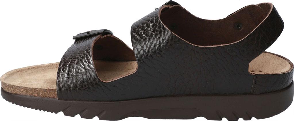 Men's Mephisto Zeus Leather Sandal, Dark Brown Buffalo Leather, large, image 3