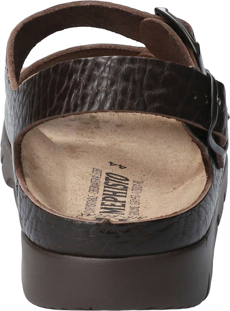 Men's Mephisto Zeus Leather Sandal, Dark Brown Buffalo Leather, large, image 4