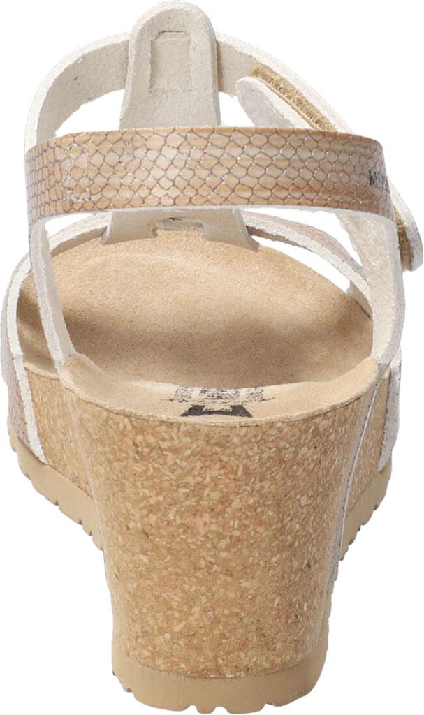 Women's Mephisto Liviane T Strap Wedge Sandal, Light Sand Zambie Leather, large, image 4