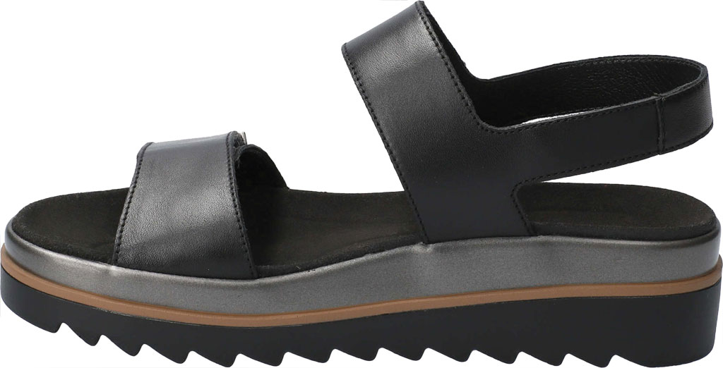 Women's Mephisto Dominica Platform Sandal, Black Softy Smooth Leather, large, image 3