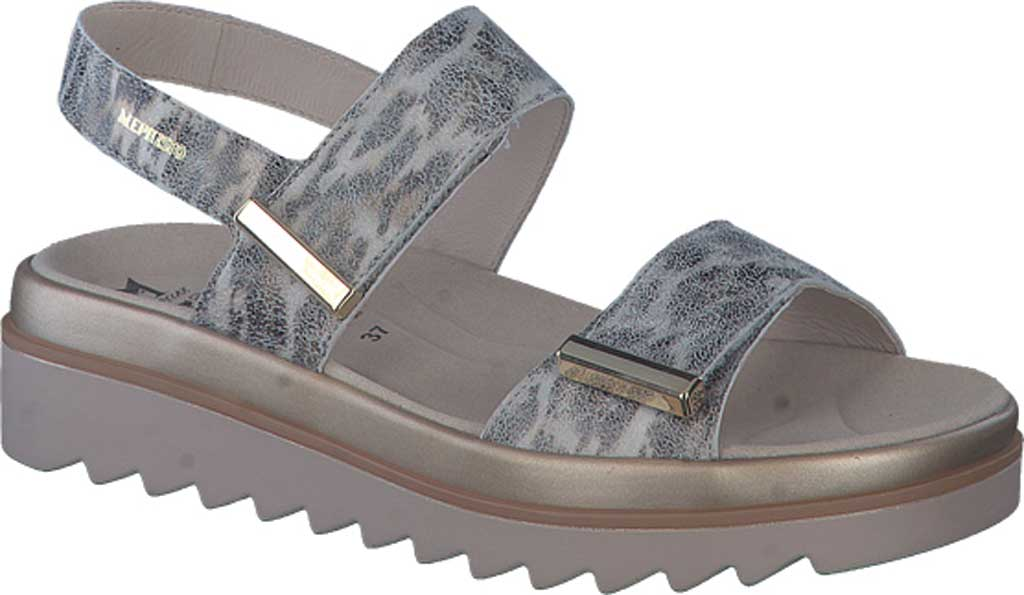 Women's Mephisto Dominica Platform Sandal, Grey Savannah Printed Leather, large, image 1