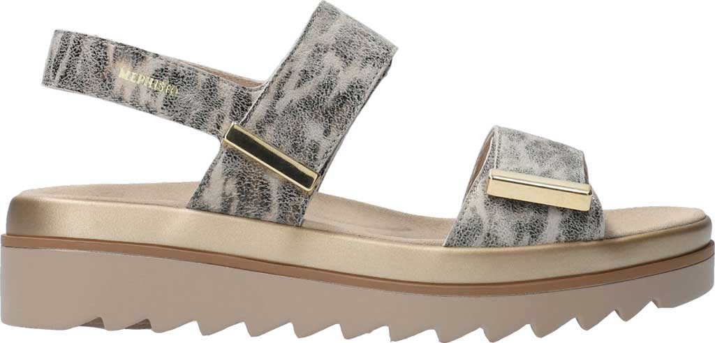 Women's Mephisto Dominica Platform Sandal, Grey Savannah Printed Leather, large, image 2