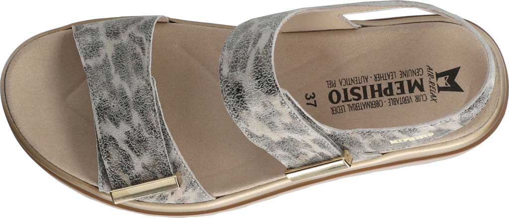 Women's Mephisto Dominica Platform Sandal, Grey Savannah Printed Leather, large, image 3